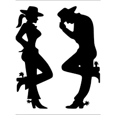 For Country Couple Cowboy Cowgirl Vinyl Decal Sticker Laptop Phone Rear Window Car Sticker Car Stickers Aliexpress