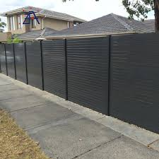 Modern Design Horizontal 6063 Black Aluminum Modular Slat Fence Panels For Sale View Aluminum Modular Fence Panels Brilliance Alu Product Details From Brilliance General Equipment Co Ltd On Alibaba Com