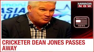 Former Australian cricketer Dean Jones ...