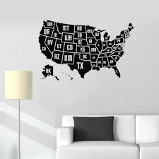 Usa Map Vinyl Wall Sticker Home Decoration Map Of The American Counties Wall Vinyl Decal May Of Places Wall Murals Poster Az849 Wall Stickers Aliexpress