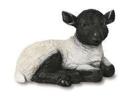 laying down lamb garden ornament