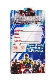 Tarjetas De Invitacion Avengers Mister Pinatas