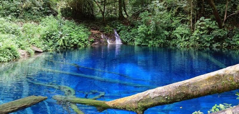 ジャンビ州の魅力的なTELAGA BIRU(青い湖)の観光地