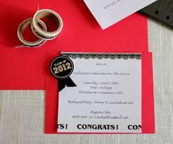 homemade graduation invitation easyday