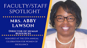 Abby Lawson, Director of Human Resources, honored at the 12th Annual  Celebration for Women of Excellence. | Morris College