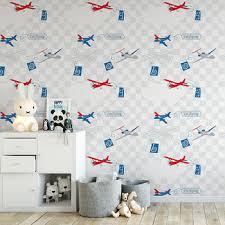 Kids Wallpaper Boy Room Wallpaper Airplane Pattern Healthy Wallpaper Buy Cheap Wallpaper Kids Bedroom Wallpaper Wallpaper For Childrens Room Product On Alibaba Com