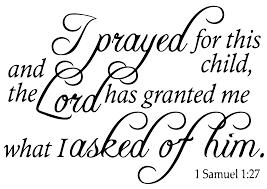 1 Samuel 1 27 I Prayed For This Child Anda Vinyl Decal Sticker Quote Large Black Walmart Com Walmart Com