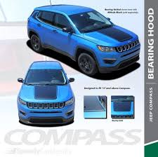Bearing Hood Jeep Compass Hood Stripe Decals Voids 2017 2019 Wet And Dry Install