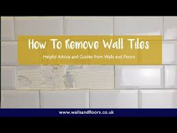 how to remove wall tiles you