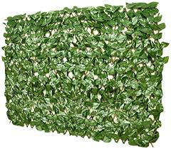 Amazon Com Floraleaf Artificial Ivy Fence Expandable Stretchable Privacy Fence Screen Leaf Single Side Leaves And Vine Decoration For Outdoor Garden Yard Laurel 1 Piece Garden Outdoor
