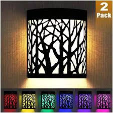 Denicmic Solar Wall Lights Outdoor Fence Solar Lights For Deck Patio Stairs Step Backyard Led Forest Nig Solar Wall Lights Solar Fence Lights Solar Deck Lights