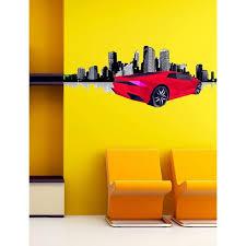 Shop Sport Car Polygonal Wall Decal Street Racing Polygon Modern Wall Art Sticker Lamborghini Overstock 31794248