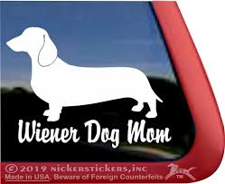 Wiener Dog Mom Dachshund Dog Decals Stickers Nickerstickers