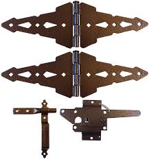 Wood Fence Hardware Single Gate Kit Hammered Bronze Finish Wood Gate Hinges And Latch Home Improvement Cjp Org In