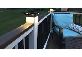 4 1 2 In X 4 1 2 In Solar Post Cap Light For Trex Classic White 3 Led Colors Buy Online For 89 95 At Ultrabrighttech