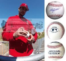 Noe Ramirez L.A. Angels of Anaheim Signed Baseball Exact Proof Photo
