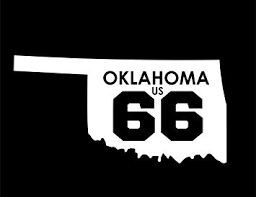 Amazon Com Nd389w Oklahoma Route 66 Decal Sticker 5 5 Inches By 2 8 Inches Premium Quality White Vinyl Automotive