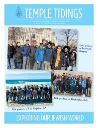 Temple Tidings Vol.111 No.5 2019/5779 May/June/July by Temple De Hirsch  Sinai - issuu