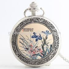 pocket watch necklace pendant chain