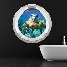 Home Furniture Diy Wall Decals Stickers Sea Turtle Porthole 3d Wall Sticker Ws 33694 Bortexgroup Com