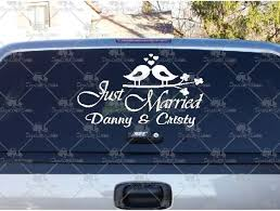 Great Deals On Just Married Love Birds Decals And Stickers