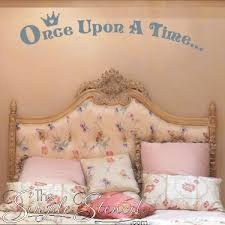 Once Upon A Time Wall Quote Girls Wall Decals Simple Stencils