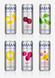 logo and packaging for dasani sparkling