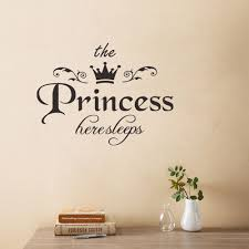 Princess Sleeps Here Wall Sticker Removable Decorative Decal For Girls Room