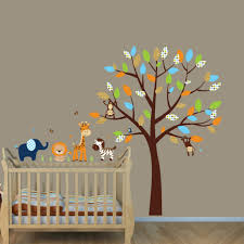 Jungle Leaf Wall Decals Mural Theme For Nursery Animal Art Book Vine Ebay Vamosrayos