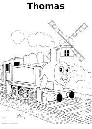Thomas De Trein Kleurplaat Thomas Train Coloring Kleurplaten
