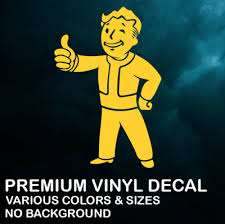 Vault Boy Fallout Premium Vinyl Decal Sticker Xbox Ps4 Pc Car Various Color Ebay