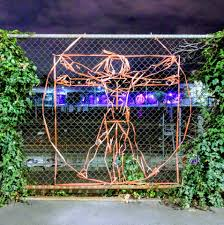 Kudos To Whoever Creating These Chainlink Fence Art All Over Melbourne Melbourne