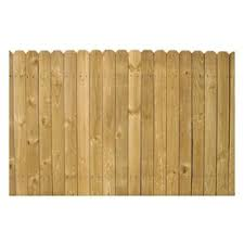 Shop 4 Ft X 8 Ft Pine Stockade Wood Fence Panel At Lowes Com Wood Fence Lowes Wood Fence Panels