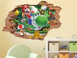Super Mario 3d Wall Decal Wall Sticker Removable Vinyl Etsy