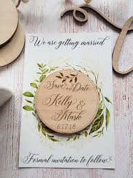 wooden save the date magnets engraved