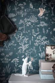 hollie dark blue sandberg wallpaper