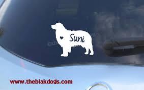 Australian Shepherd Silhouette Vinyl Sticker Personalized Car Decal Blakdogs Vinyl Designs