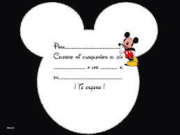 Invitacion Cumpleanos Disney Mickey Manualidades Name