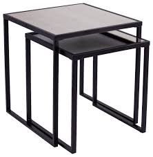 linessa nesting end tables 2pc set