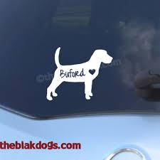Beagle Silhouette Vinyl Sticker Personalized Car Decal Blakdogs Vinyl Designs