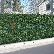 6 Ft Faux Ivy Leaf Artificial Hedge Fencing Privacy Fence Screen Decorative Ebay