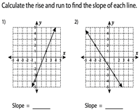slope worksheets