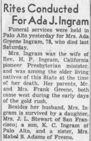 Obituary for Ada J. Ingram (Aged 78) - Newspapers.com