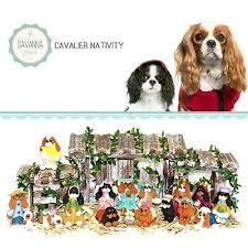 dog nativity cavalier gifts