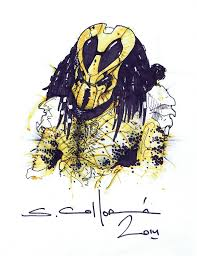 Wasp Predator NECA Packaging Art by Sandy Collora from Batman Dead End  Short Film, in Royce Viso's Alien VS Predator Published and Sequential Art  Comic Art Gallery Room