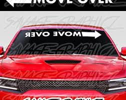 Move Over Decal Etsy