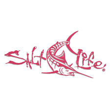 Pink 12 Salt Life Signature Deep Marlin Decal Crescent Moon Tattoo Moon Tattoo Salt Life Decals