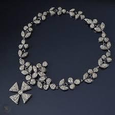 vtg antique victorian irish diamond