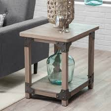 rustic farmhouse end table nightstand