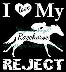 Ottb Love My Racehorse Reject Tb Horse Decal Choose Color Ebay
